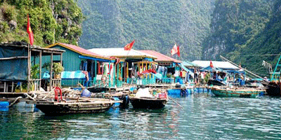 Floating village at Halong Bay