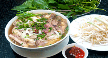 Pho soup in Vietnam