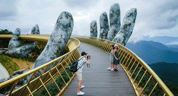 Golden Bridge in Da Nang in the top 100 the most beautiful destinations in the world
