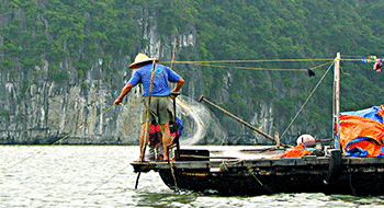 Halong bay in Vietnam bans fishing in the center